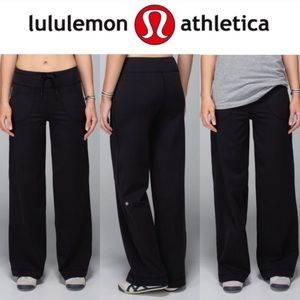LULULEMON Still Pant Wide Leg Pockets Drawstring